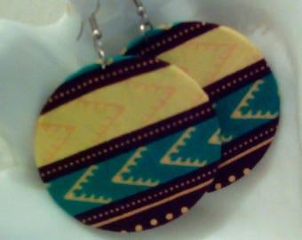 Kitenge Wrapped Earrings