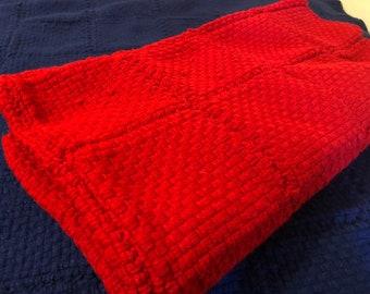 "Red Lap Blanket - 46"" x 46"""