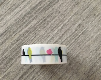Bird on a Wire Washi Tape Multi color