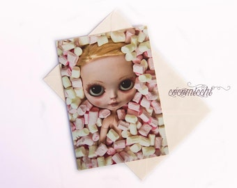 Under candy - Any occasion greeting card by cocomicchi - A5 size