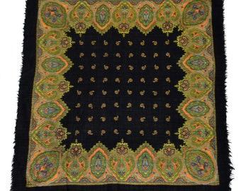 Vintage Kaschmir scarf floral 100% wool paisley