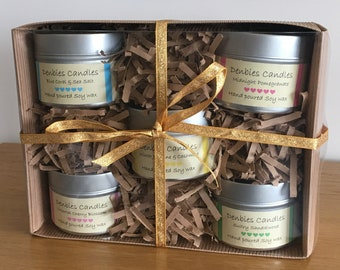 Soy Wax Candles in a Tin Gift Set, soy wax candle, scented candle tins, soy candle, natural soy candle, handmade soy wax candle, gift