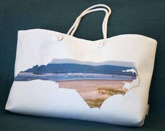 NC State Shape Weekender Tote Bag