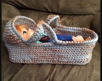 Crocheted Doll Moses Basket Pattern