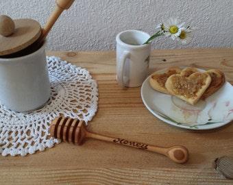 Olive wood HONEY SPOON-Teaspoon collect honey, handmade in one piece