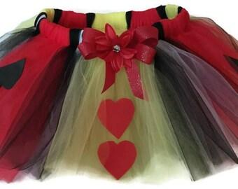 Queen of Hearts Tutu-Red-Queen of Hearts-Alice in Wonderland-Halloween Tutu-Costume-Christmas