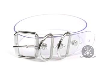 Buckle Choker XL, Plain Vinyl Choker, Collar, Belt Buckle Choker, PVC, Silver | Shop Kadabra