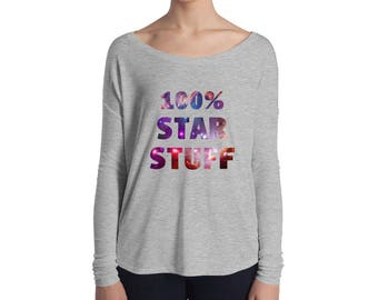 100% Star Stuff Ladies' Long Sleeve Tee