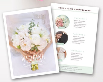 Wedding Pricing Template, Photography Pricing Guide, Price List, Digital Design Files, Photography Template - INSTANT DOWNLOAD