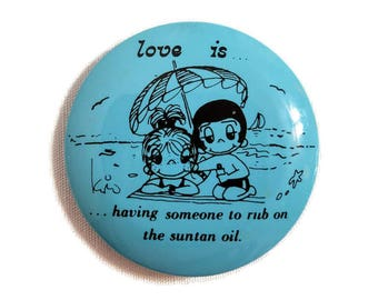 Kim Casali Love Is Button Flair Pin 1970 United Feature Syndicate