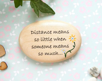 Missing a Friend, Long Distance Relationship, Distant Friends, Missing Mum, Moving Away, Relocating Gift, Going Travelling, Painted Pebble