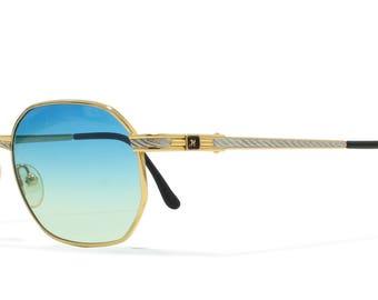 Hilton Monaco 308 1 Gold Vintage Sunglasses Oval For Men and Women