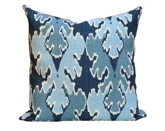 Bengal Bazaar Teal designer pillow covers - Made to Order - Kelly Wearstler