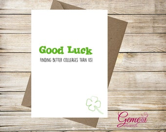 Greeting card, Good Luck, New Job