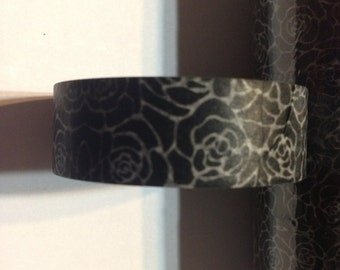 Black and Tan flower washi tape