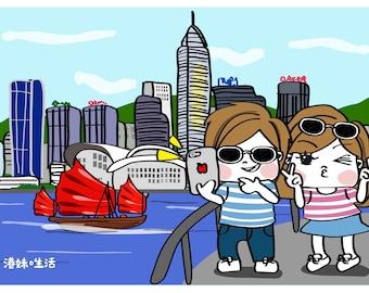 港妹。生活香港明信片 Kong Mui Hong Kong Postcard