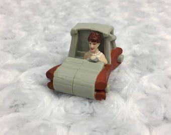 Wilma Flintstones Character Movie Small McDonalds Happy Meal Toy Car Vtg 1993