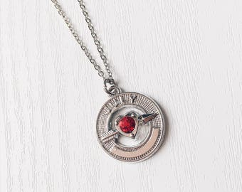 Birthstone Rhinestone Necklace   January, February, March, April, May, June, July, August, September, October, November, December   Gift
