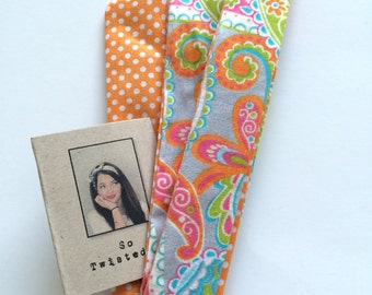 Gift for Her Twist Tie Headband Reversible Headband Skinny Headband Reversible Headband Cotton Headband Hair Accessory
