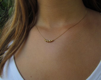 Simple Necklace, Gold Necklace, Gold Minimalist Necklace, Delicate Gold Necklace, Dainty Gold Necklace, Simple Gold Necklace