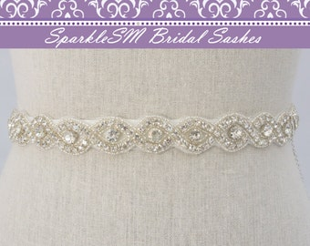 Ceinture de strass, cristal de mariée Sash, demoiselles d'honneur Sash, ceinture de Swarovski, parée Bridal, Prom Sash, cristal ceinture, ceinture de robe de mariage