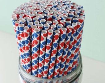 SPRING CLEANING SALE, Paper Straws, Pepsi Straws, Patriotic Straws