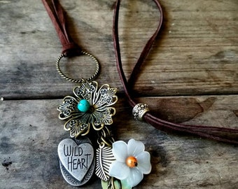 Wild Heart Leather Necklace