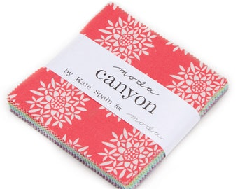 Canyon Charm Pack by Kate Spain for Moda Fabrics, Precuts, IN STOCK