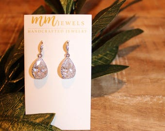 Crystal Bridal Dangle Earrings