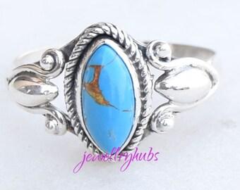 Turquoise Ring, Turquoise Stone Ring, Turquoise Silver Ring, Silver Ring, 925 Sterling Silver Ring, Turquoise Jewellery