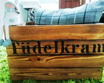 Tüdelkram, Tüddelkram, storage box, wooden crate, odds, Toy box, book box, storage Basket, Utensilo, wood decoration, box for wool