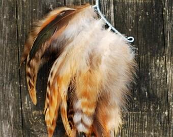 Feather Ear Cuff, Ear Cuff, Feather Earrings, Ear Wrap, Feather Ear Wrap, Hair Headpiece, Festivals, OOAK, Ear Jacket