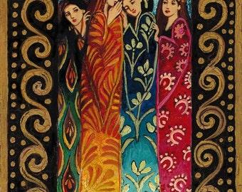 Her Secrets 8x10 Print Fine Art Mythology Bohemian Gypsy Psychedelic Goddess Art