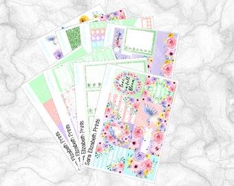 Floral Bloom Full Weekly Planner Sticker Kit