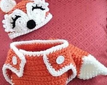 Crochet Newborn Fox Photo Set