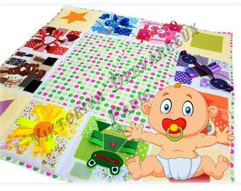 Baby play mat, Outdoors-gift, Sensory, Playmat, Baby Activity Mat, Busy Blanket ,Sensory toys, Personalized Baby gift, Outdoors play mats