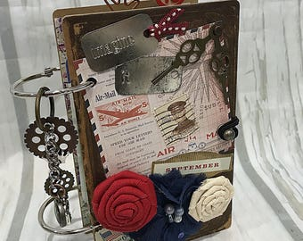 "MINI 3 1/2"" x 5 3/4""  2-ring Planner Organizer Junk Journal Smash Book Scrapbook Art Journal"