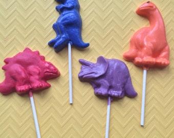 DINOSAUR Chocolate Pops(12)-T-REX/ Dino Party/Dino favors
