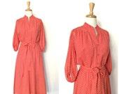 Vintage Red Dress - 70s d...
