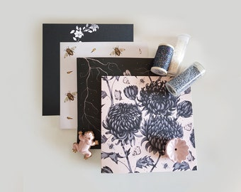 Birds, Bees & Flora Pack of 4 Cards