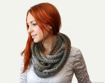 CROCHET PATTERN - Eternity Scarf - Instant Download (PDF)