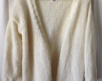 Soft natural Alpaca loose vest