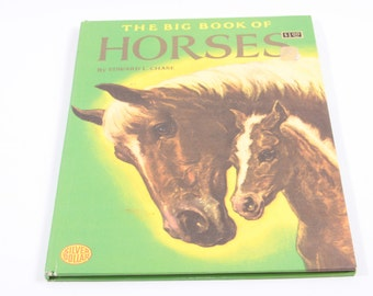 The Big Book of Horses - Edward L. Chase - Vintage Picture Book - Equestrian - Non fiction - Children's - 170215