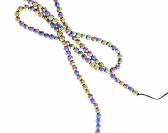 Pyrite beads multi color , 16 inch strand sold by each 09309