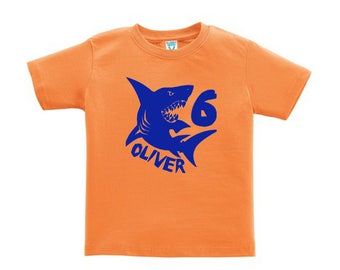 Personalized Shark Shirt - any age and name - pick your colors!