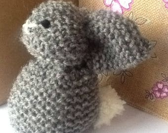 Knitted Bunny Home Decor Hand Knitted Rabbit