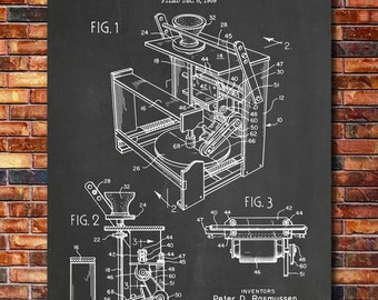 Pottery Wheel Patent Print Art 1971
