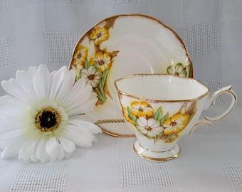 Royal Albert Petunia Teacup and Saucer Set, Made in England