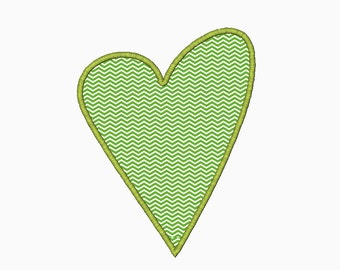 Chic heart applique machine embroidery design.  Comes in multiple sizes.  INSTANT DOWNLOAD