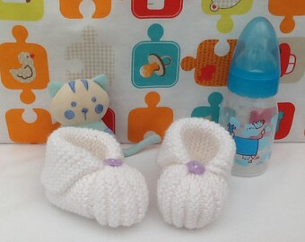 Knit baby gift newborn baby knitting wool baby booties